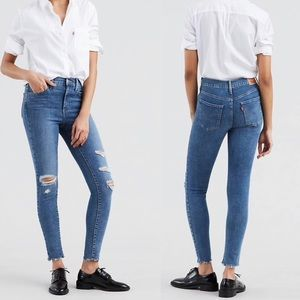 Levi's   720 High Rise Super Skinny Ripped Jeans